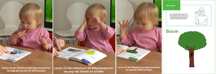 Lernen mit den BabyHandzeichen Buch