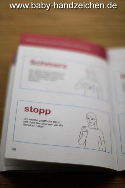 Babyzeichen, Gebärde für Stopp & Schmerz